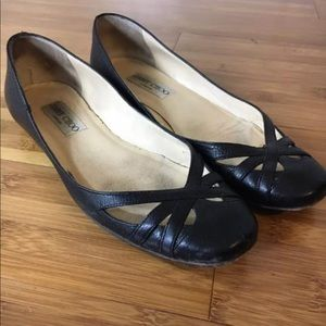 Jimmy Choo Sz 6.5 Black Leather Flats